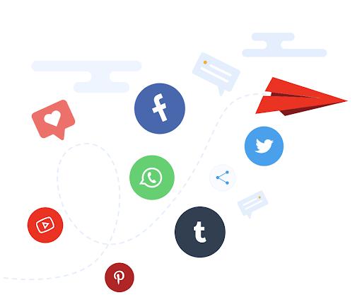 social media channels portals